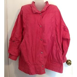 London Fog Pink Coat Jacket Womens 8 Reg